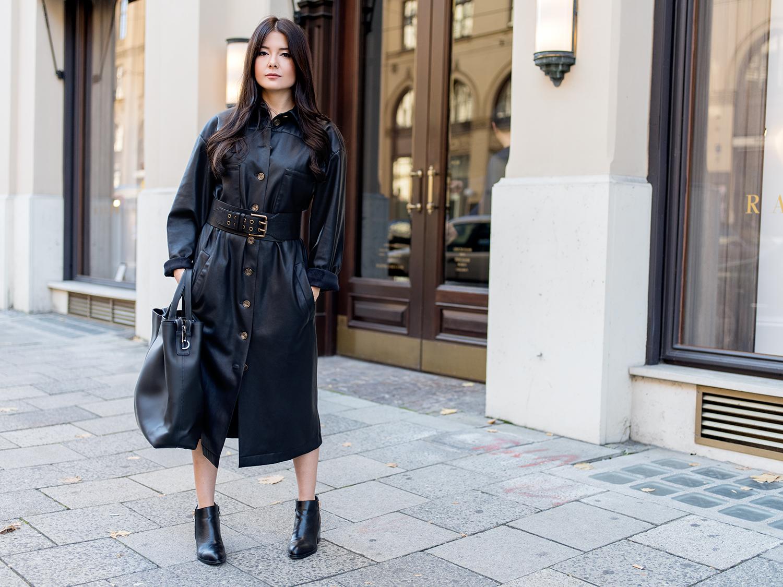 outfit leder look richtig kombinieren fashionambit. Black Bedroom Furniture Sets. Home Design Ideas