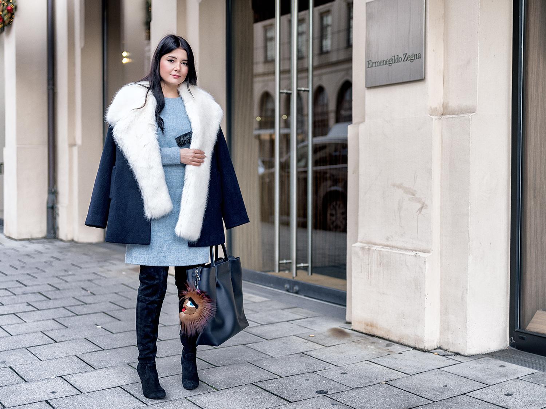 Outfit Kleid Im Winter Stylen Fashionambit