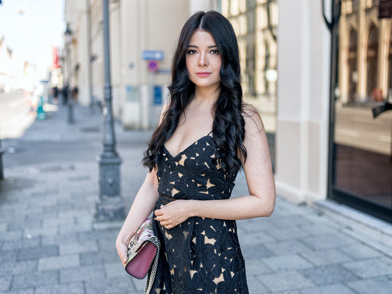 Fashionambit Sommerkleid lang Sommerkleid Spitze Sommerparty Outfit ootd
