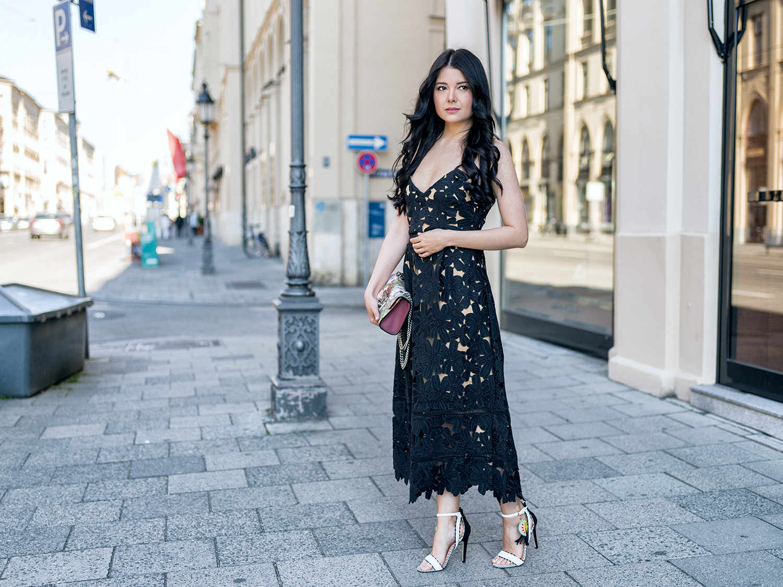 Fashionambit Sommerkleid lang Sommerkleid Spitze Sommerparty Outfit gossip girl