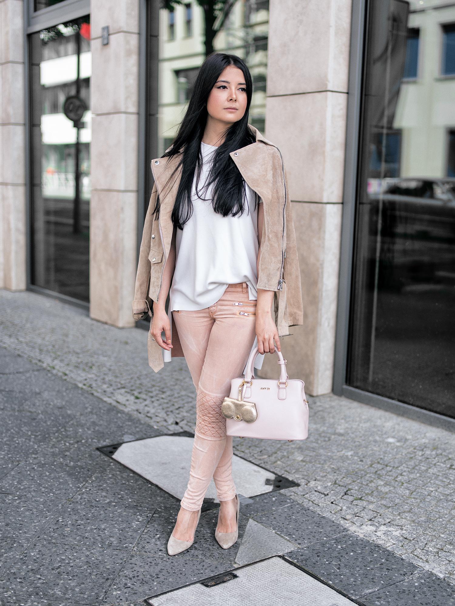 Pastel Farben von Kopf bis Fuß Any Di Tasche Blogger Fashionambit