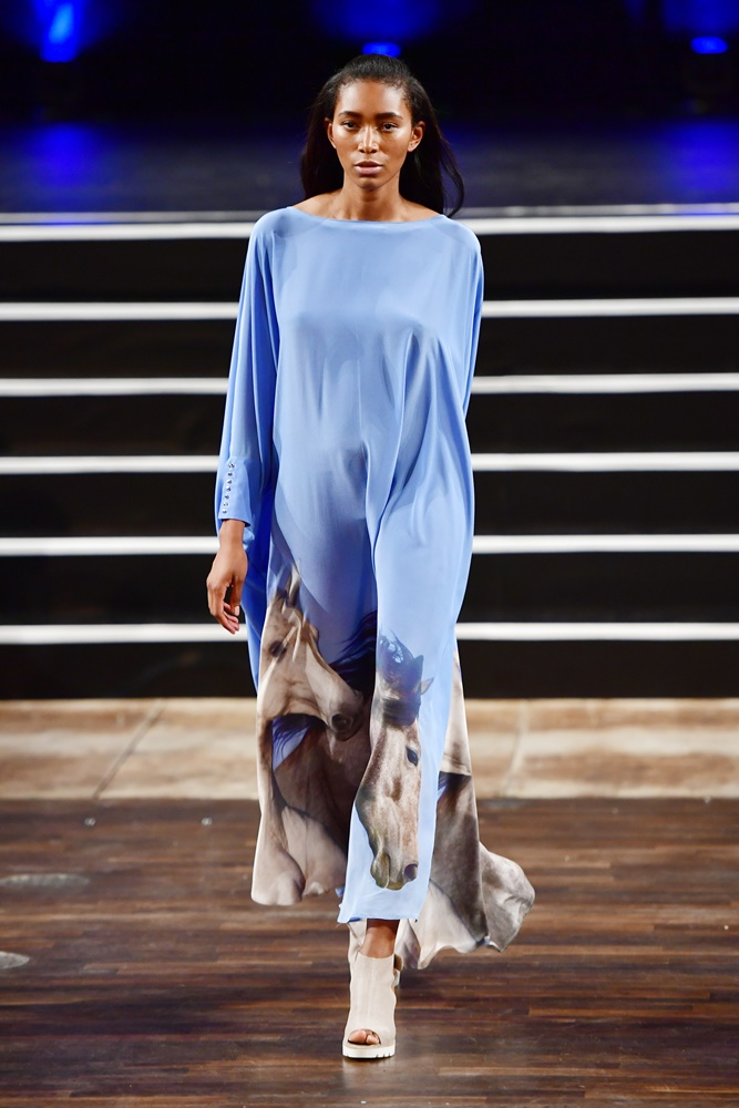 BERLIN, GERMANY - JUNE 30: A model walks the runway at the Marcel Ostertag show during the Mercedes-Benz Fashion Week Berlin Spring/Summer 2017 at Admiralspalast on June 30, 2016 in Berlin, Germany. (Photo by Alexander Koerner/Getty Images for Marcel Ostertag)
