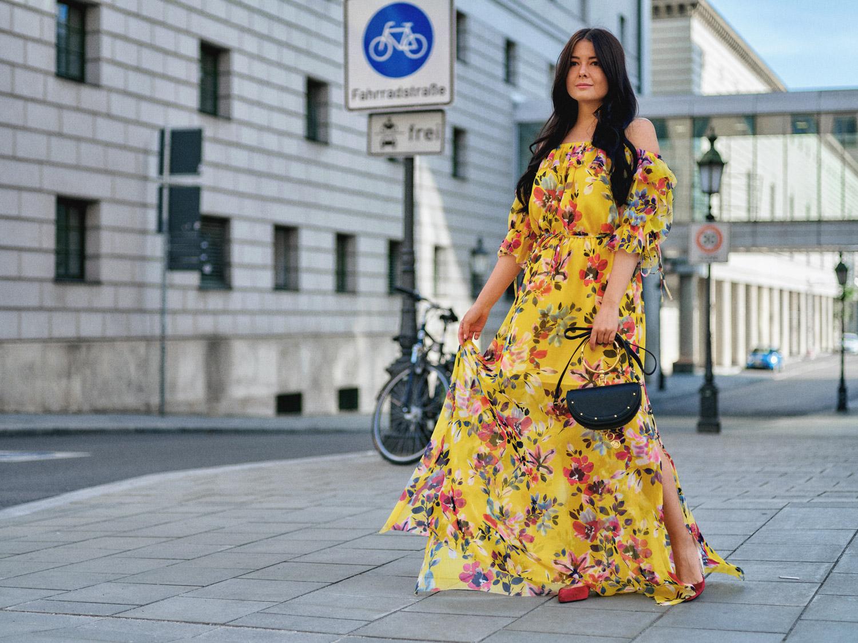 Sommer Maxi Kleider Mit Blumenmuster Im Sommer